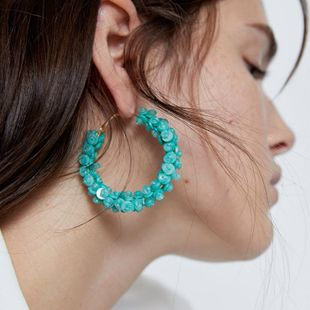 New fashion acrylic round earrings for women wholesale NHJQ208781's discount tags
