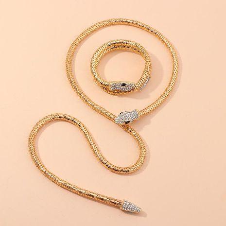Nouvelle mode rétro mode esprit serpent diamant collier collier serpentine bracelet bracelet en gros NHNZ208817's discount tags