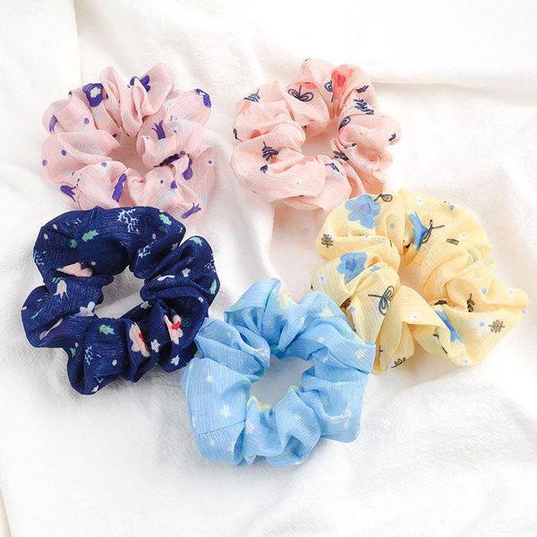 Korean new fashion flowers cheap scrunchies wholesale NHJE208847