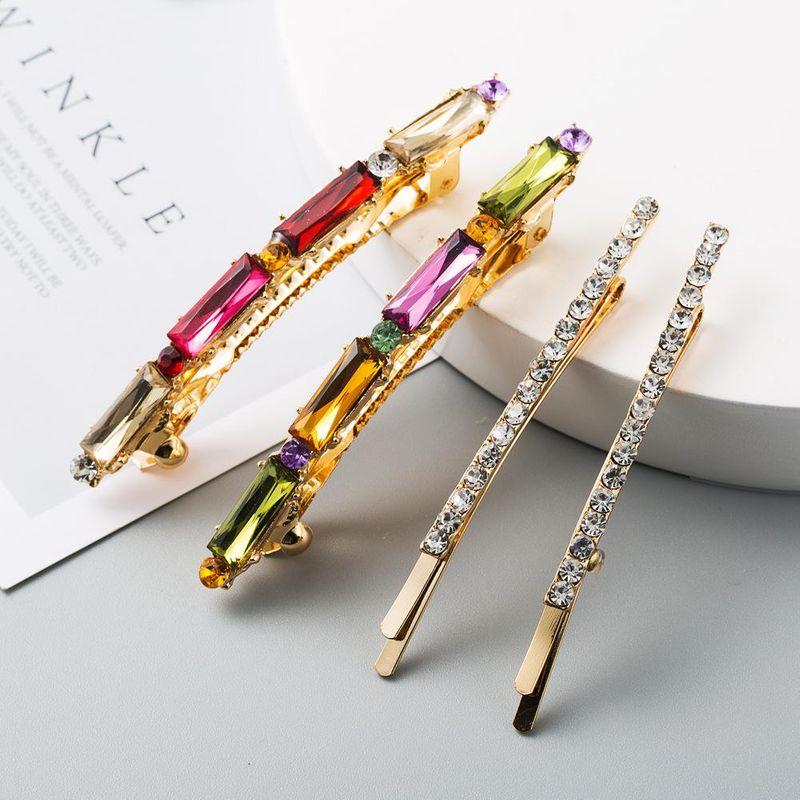 New fashion acrylic diamond-set hair clip cheap side clip set wholesale NHLN208866