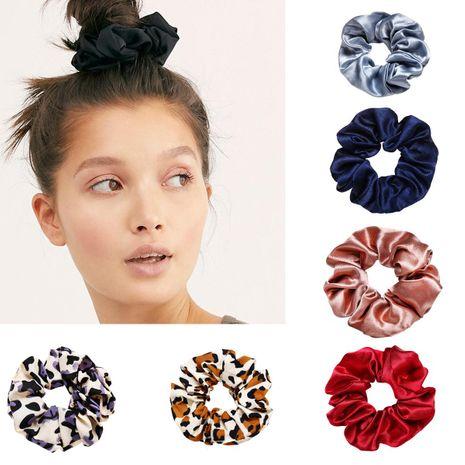 New fashion retro minimalist wild solid color leopard-cheap scrunchies wholesale NHPJ208888's discount tags