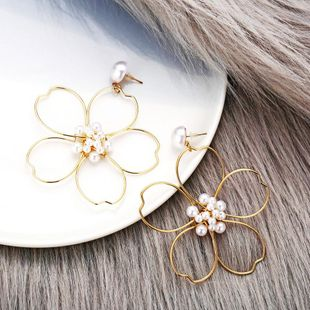 New fashion flowers pearl earrings creative retro simple daisy flower earrings for women wholesale NHPJ208916's discount tags
