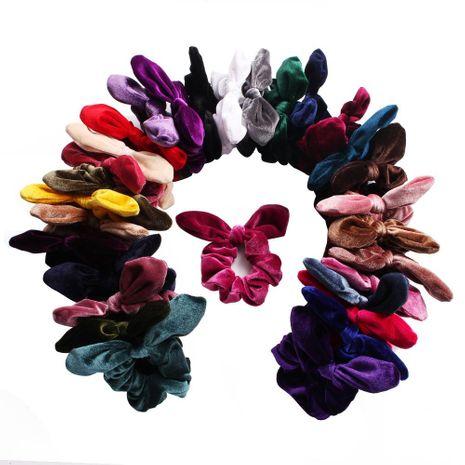 Nuevas orejas de conejo de terciopelo retro coreano scrunchies baratos al por mayor NHDM208947's discount tags