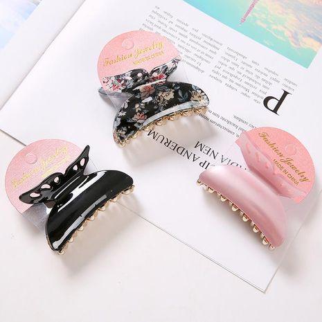 Korean new fashion butterfly hair clip black plastic grab clip wholesale NHDM208950's discount tags