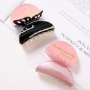 Korean new fashion butterfly hair clip black plastic grab clip wholesale NHDM208950