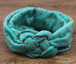 New European and American Polka Dot Cross Hairband Children Baby Weave Twist Peaceful Knot Hair Hoop Infant Hair Accessories Wholesale NHDM208962