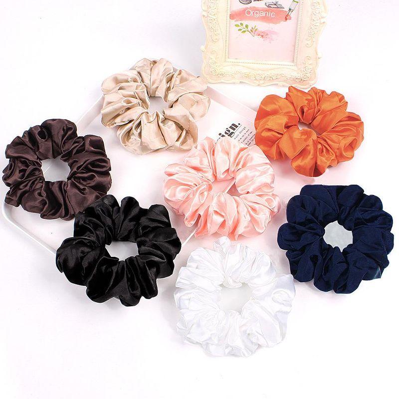 New fashion 15cm satin fabric cheap scrunchies wholesale NHDM208976