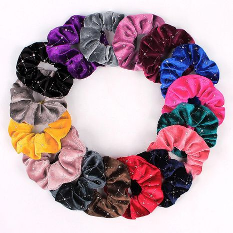 New fashion gold velvet hot drill velvet point drill cheap scrunchies wholesale NHDM208979's discount tags