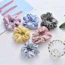 New fashion simple tie colorful stripes lattice cheap scrunchies wholesale NHDM208980