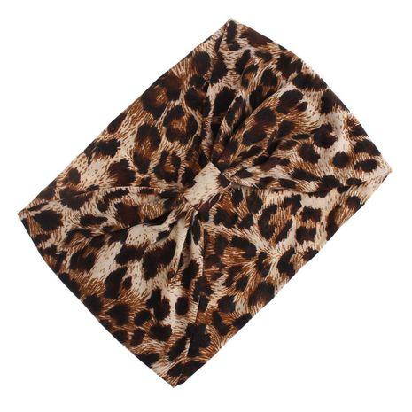 New Korean Fashion Wide Hairband Cotton Sports Yoga Headband Hair Accessories 9 Color Leopard Hairband NHDM208982's discount tags