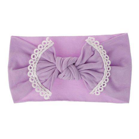 Fashion baby hair accessories super soft nylon bowknot lace children's hair band headband wholesale NHDM208985's discount tags