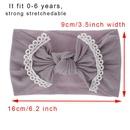 Fashion baby hair accessories super soft nylon bowknot lace childrens hair band headband wholesale NHDM208985