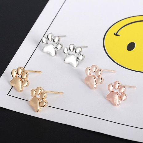 New fashion dog paw earrings cute animal foot paw earrings cat paw earrings wholesale NHMO209005's discount tags