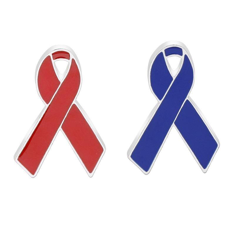 New HIV World AIDS Day Red Ribbon Charity Ambassador Brooch Wholesale NHMO209011