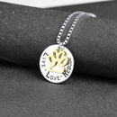 New Fashion Lettering Round Hollow Cat Claw Pendant Necklace Letter Live Love Rescue Dog Claw Necklace Wholesale NHMO209062