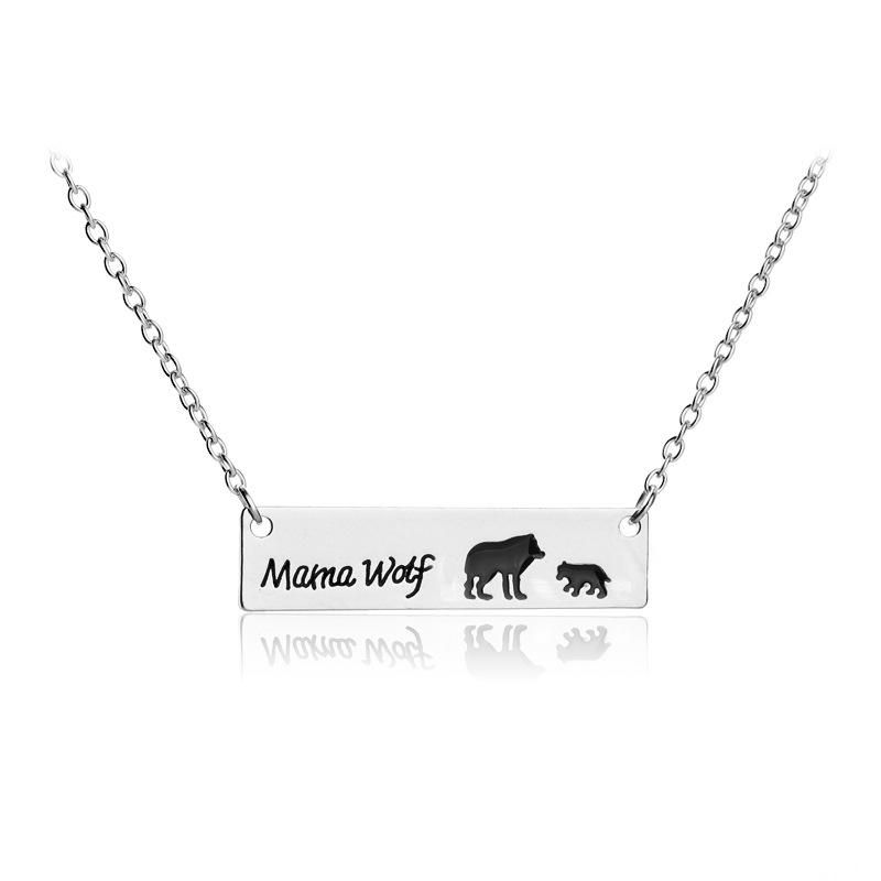 New oil drop wolf mother necklace mother's day gift wolf pendant necklace wholesale NHMO209064