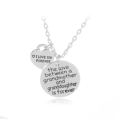 Simple I LOVE YOU FOREVER English Tag Necklace Mother's Day Gift Heart Pendant Necklace NHMO209075's discount tags