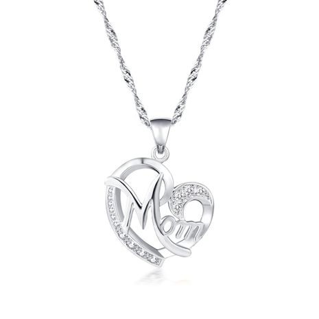 New fashion creative mother's day gift MOM diamond necklace wholesale NHMO209084's discount tags