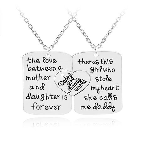 New fashion mother's day father's day love stitching necklace wholesale NHMO209086's discount tags