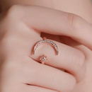 New fashion star moon index finger open ring crescent ring star moon ring wholesale NHMO209116