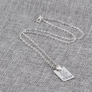 New Fashion Geometric Square Pendant Necklace Father39s Day Necklace Tag Necklace Wholesale NHMO209129