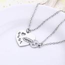 New fashion wild heart key best friends best friend suit necklace wholesale NHMO209165