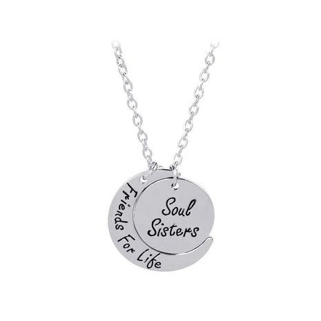 Soul Sisters Friends For Life star moon necklace NHMO209173's discount tags
