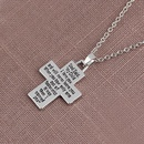 New oil drop footprint necklace simple lettering dog paw cross necklace wholesale NHMO209175