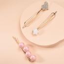 Korean new fashion candycolored pearl threepiece hair accessories love diamondset cheap hairpin wholesale NHMD209189