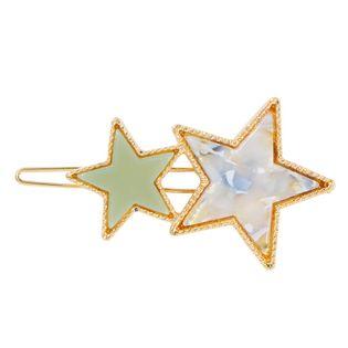 Nueva moda coreana color caramelo horquilla color estrella de cinco puntas moda clip lateral barato al por mayor NHMD209190