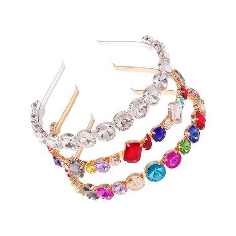 New fashion alloy diamond headband baroque color diamond cheap headband wholesale NHMD209191's discount tags