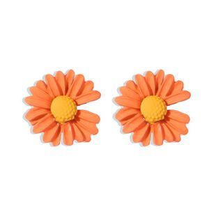 Korean new fashion small daisy silver needle earrings for women wholesale NHMD209197's discount tags