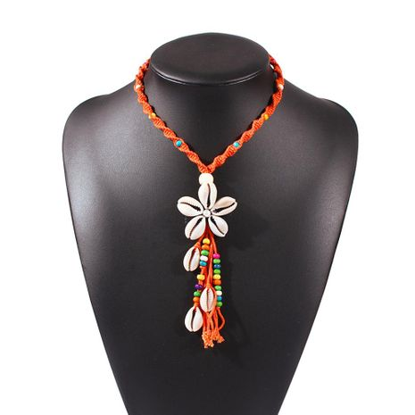 New Fashion Summer Ocean Wind Shell Necklace Hand Woven Bohemian Necklace Wholesale NHMD209214's discount tags