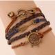 Fashion retro creative ship anchor arrow notes combination alloy accessories handmade multi-layer braided bracelet yiwu nihaojewelry wholesale NHSC209564
