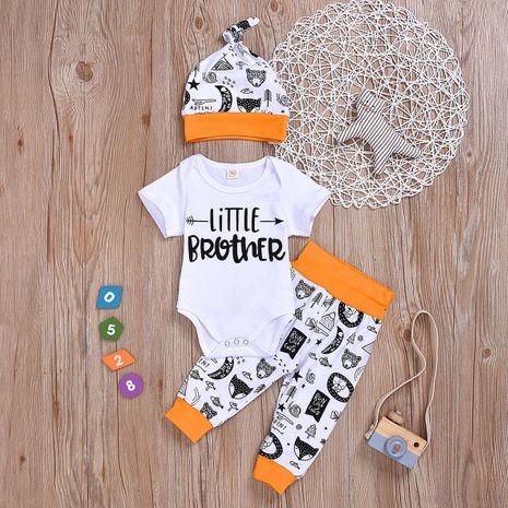 Les vêtements pour enfants en trois pièces imprimés pour enfants en gros NHYB209327's discount tags