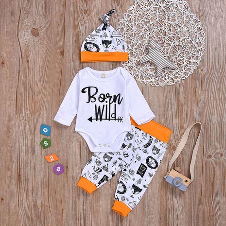 Le nouveau vêtement pour enfants en trois pièces imprimé animal en gros NHYB209328's discount tags