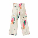 Wholesale spring cream multicolor casual women39s straight pants NHAM209332