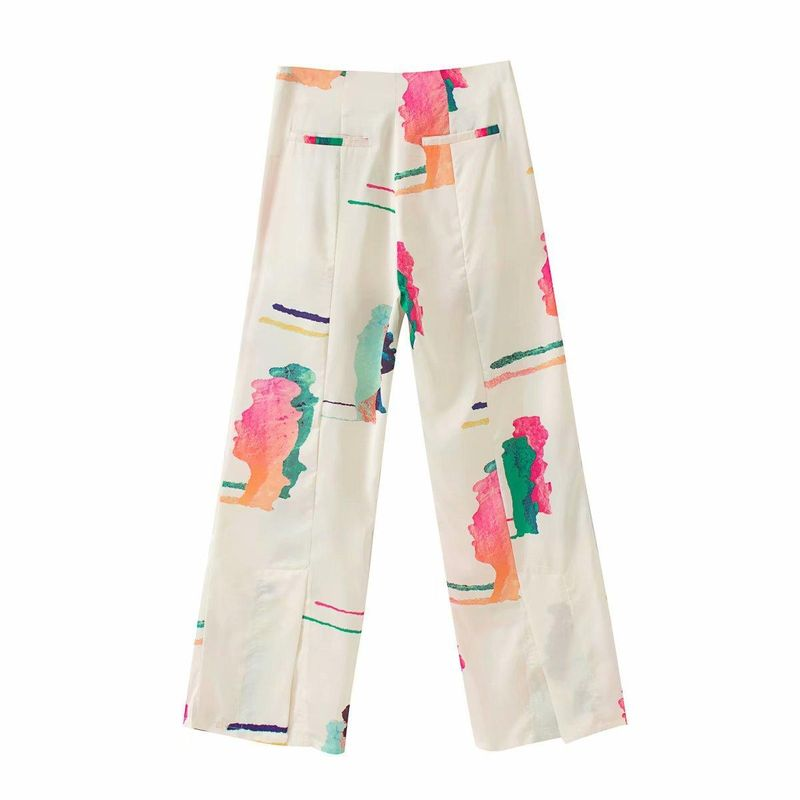 Wholesale spring cream multicolor casual women's straight pants NHAM209332