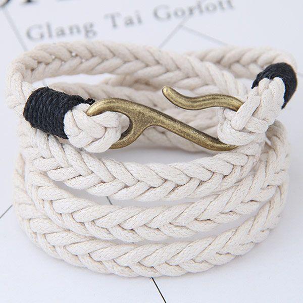 Metal simple woven multi-layer bracelet yiwu nihaojewelry wholesale NHSC209556