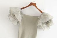 Wholesale spring organza short women39s Tshirt tops NHAM209399