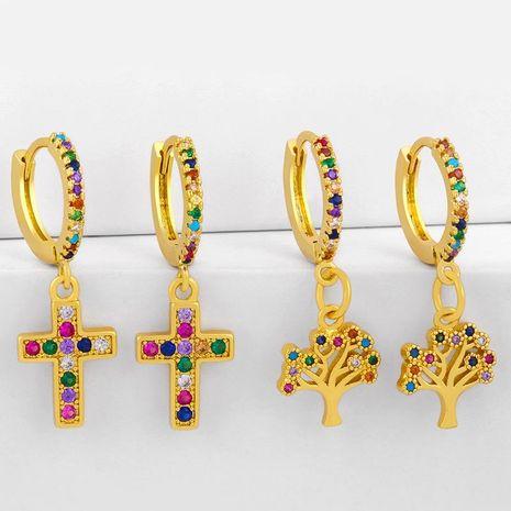 Nouveau croix boucles d'oreilles boucles d'oreilles diamant boucles d'oreilles en gros NHAS209611's discount tags