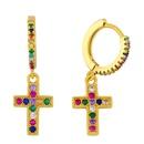 New cross earrings earrings diamond earrings wholesale NHAS209611