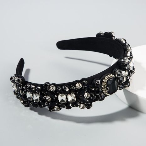 The new baroque headband with colored rhinestones and glass diamond cheap headband wholesale NHLN209635's discount tags