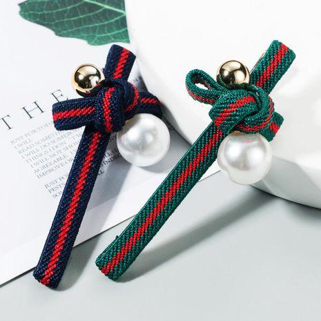 Nueva corbata de lazo de rayas perla coreana al por mayor NHLN209641's discount tags