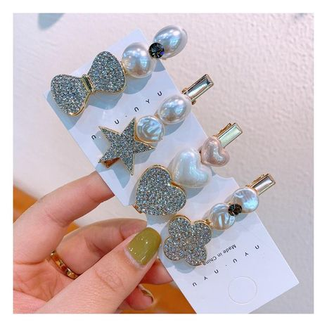Korean new fashion crystal rhinestone hairpin cartoon side clip cheap hairpin wholesale NHHD209683's discount tags