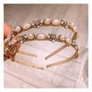 Korean new fashion retro palace french pearl flower cheap headband wholesale NHHD209689