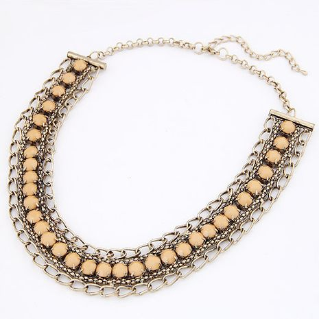 Fashion metal gorgeous gem short necklace Yiwu nihaojewelry wholesale NHSC210082's discount tags
