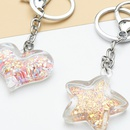 New fashion creative acrylic love keychain accessories peach heart quicksand bag pendant wholesale NHNZ209750