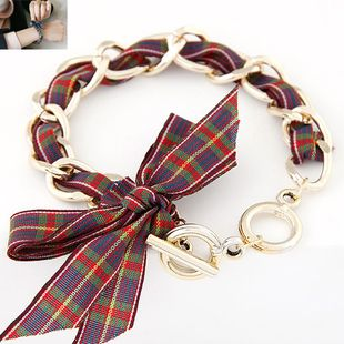 Pulsera de cadena de metal de arco grande de moda coreana yiwu nihaojewelry al por mayor NHSC210079's discount tags