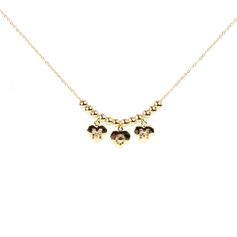 Mother39s Day gift new fashion MOM letter zircon necklace wholesale NHPY209796